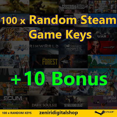 100 x Random Steam Game Keys + 10 Bonus 🔥 Value up to $180 ✅REGION FREE