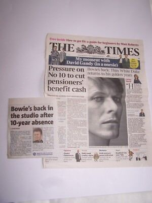 David Bowie Newspaper Clippings / Articles / Reviews