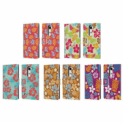 Head Case Designs Hawaiian Patterns Leather Book Wallet Case For Lg Phones 2