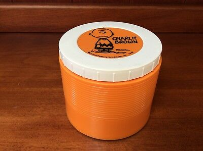 1969 Charlie Brown Orange Insulated Thermos Model #1155