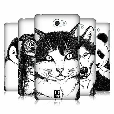 Head Case Designs Hand Drawn Animals Hard Back Case For Sony Phones 4
