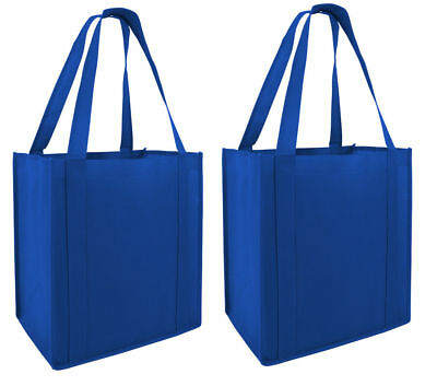 2 Large Reusable Eco Friendly Grocery Laundry Tote Shopping Bags Bag Foldable