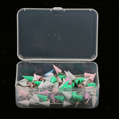 100PCS Screw on Type Disposable Dental Prophy Cups Brushes Pointed Polishers