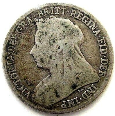 Great Britain Uk Coins, One Shilling 1896, Victoria, Silver 0.925