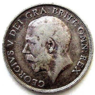 Great Britain Uk Coins, One Shilling 1915, George V, Silver 0.925
