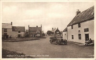 Holy Island. Market Place & Post Office # G 1744 by Valentine's.