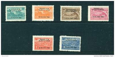 ALBANIA  - 1946 Constitutional Assembly Set Hinged Mint