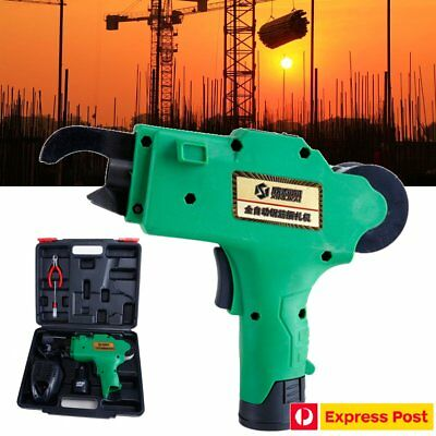 12V Automatic Handheld Rebar Tier Tool Building Tying Machine Strapping 8mm-34mm