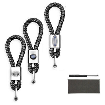 1x Car KeyChain Leather Weave Straps Keyrings For BMW  FORD TOYOTA
