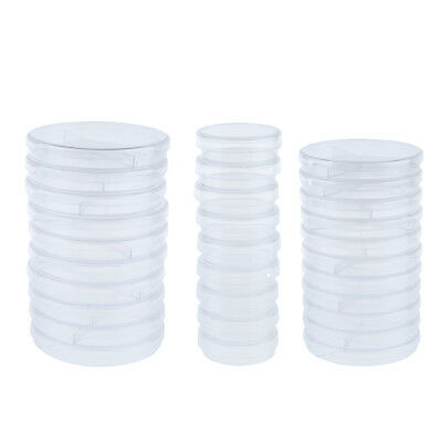 10 Pcs Plastic Petri Dishes Sterile Culture Dish with Lid, High Clearness