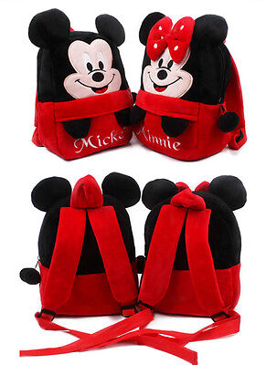 Minnie Mickey Kids Baby Boys Girls Backpacks Cartoon Pre-primary School Bag &2