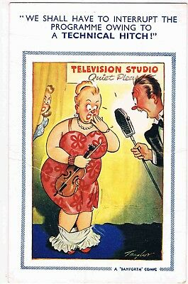 2 x CPCs - MICROPHONE RELATED COMIC PCs - WE SHALL HAVE TO INTERRUPT THE...1955