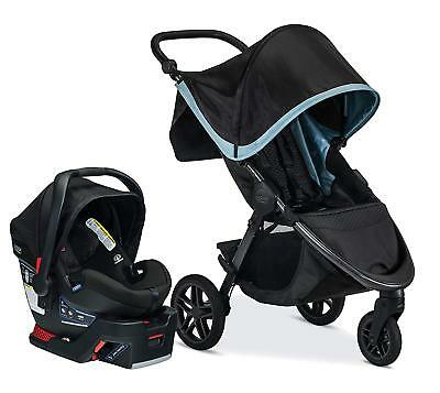 Britax B-Free Stroller & B-Safe Ultra Car Seat Travel System Frost New!!