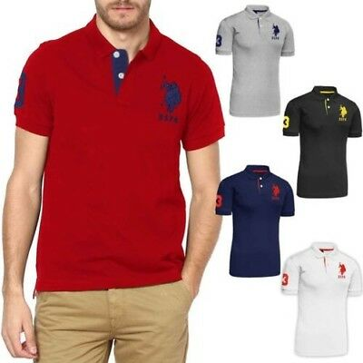 Da Uomo a Maniche Corte 100% Cotton S Ex- Us Polo Assn Pony T Shirt $69.00