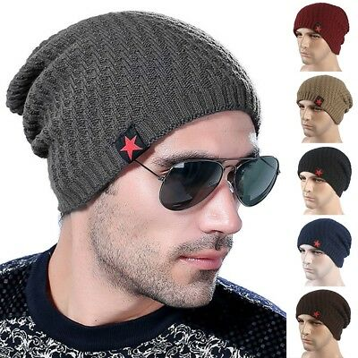 Fashion Winter Unisex Men Womens Warm Knitted Slouch Beanie Hat Ski Baggy Cap