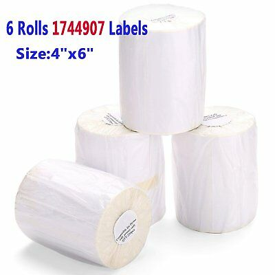6 Rolls 220/Roll 4x6 Direct Thermal Shipping Labels Compatible 1744907 Dymo 4XL