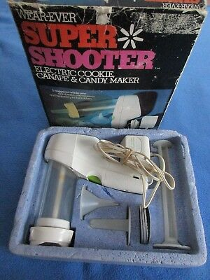 Vintage Wear-Ever Super Shooter Electric Cookie Press Canape Candy Maker #70001