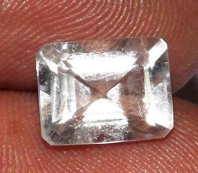 3.80 ct Natural Earth Mined Goshenite Aquamarine Bery 10 x 8 mm Gem #bgo808
