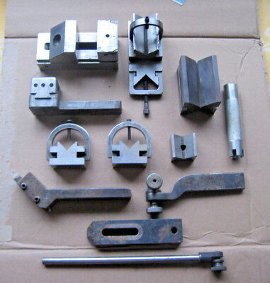 """Machinist """"V"""" Block Lot With Clamps & More Unbranded"""