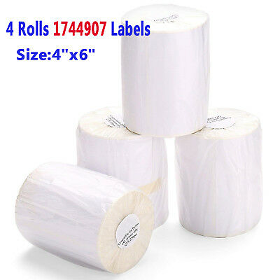 4 Rolls 220/Roll 4x6 Direct Thermal Shipping Labels Compatible 1744907 Dymo 4XL