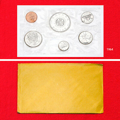 1964 6 Coin Canada Silver Proof-Like Commemorative Mint Set (4 Silver Coins)