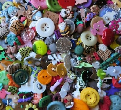 Lot of 100 Buttons - Mix of Large, Novelty & Fancy Buttons for Sewing or Crafts