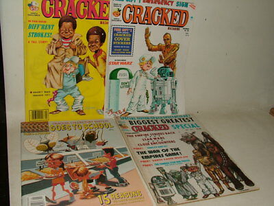 CRACKED VINTAGE MAGAZINES ( LIKE MAD ) Numbers 146 162 STAR WARS SPACE JOB LOT