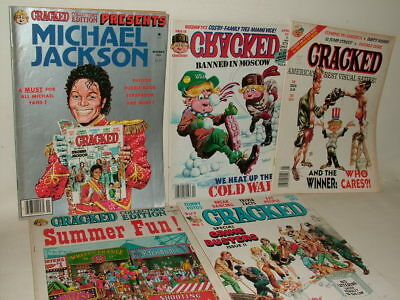 Cracked Vintage Magazines ( Like Mad ) 1980's Issues M Jackson  Job Lot Of Five