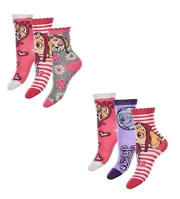 Paw Patrol Socks for Girls, Size 23/26, 27/30 or 31/34, Nickelodeon colorful New