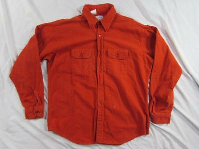 Vtg 60s 70s Sport King Union Made USA 100% Cotton Flannel Shirt Sz XL Work Nice!