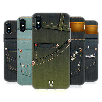 HEAD CASE DESIGNS JEANS POCKET SOFT GEL CASE FOR APPLE iPHONE PHONES