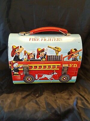 Walt Disney Character Fire Fighters Lunchbox tin Limited Ed. 2000