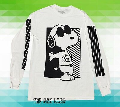 New Peanuts Snoopy Charlie Cool Browwn Long Sleeve Classic Mens T-shirt