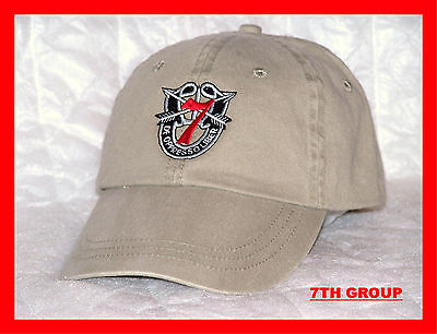 Army Airborne Green Beret Special Forces Operations 7Th Group Spec Ops Cap Hat