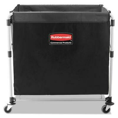 Rubbermaid Commercial 1881750 Eight Bushel Cart Collapsible X-Cart Black & Si...