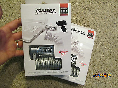 MASTER LOCK Safe Space COMPUTER LOCK security on the Go brand new SEALED FACTORY