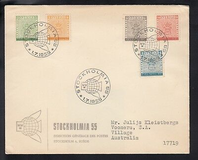 SWEDEN 1955 STAMP CENTENARY First Day Cover
