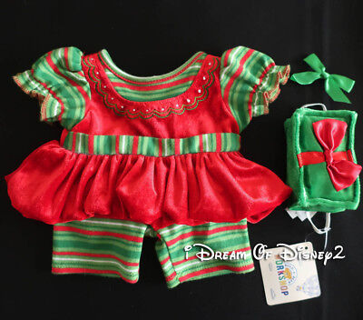 Build-A-Bear ELF GIRL DRESS & NEW CHRISTMAS GIFT PRESENT Teddy Clothes Outfit