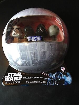 New Star Wars Rogue One Pez Set In Collectible Gift Tin Death Star