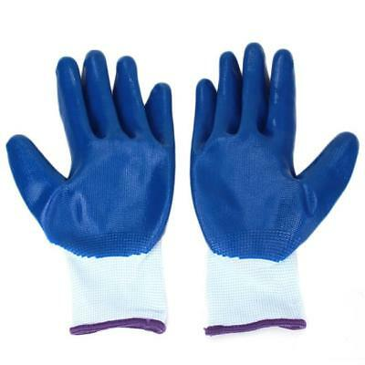Nylon Safety Coating Work Gloves Builders Palm Protect Anti-static Mittens AL
