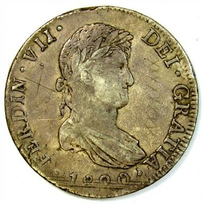 1820-JJ Mexico 8 Reales - KM#111 - Spanish Colony Large .896 Silver Coin