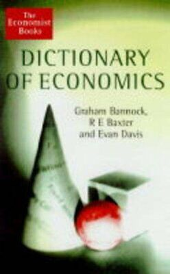 Dictionary Of Economics (The Economist Books) by Baxter, R.E. Hardback Book The