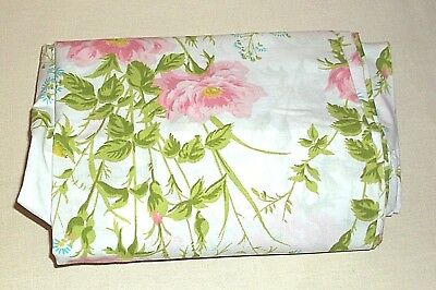 VINTAGE LADY PEPPERELL TWIN FITTED NO-IRON PERCALE SHEET Colorful Flowers