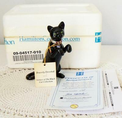 Hamilton Virtues of the Black Cat Collection~BRAVELY DEVOTED~Swarovski~MIB/COA