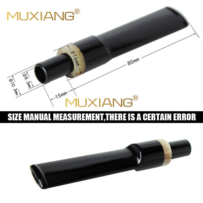 Straight-Taper Black Ebonite Mouthpieces Pipe Stems fit 9mm filter Tobacco Pipe