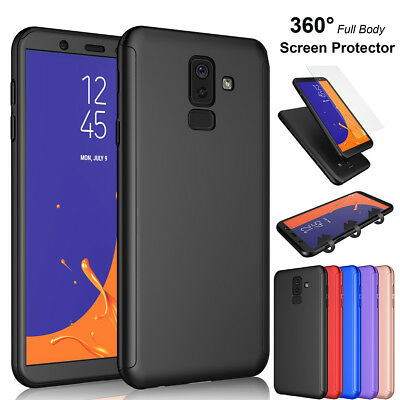 For Samsung Galaxy J4 J8 2018 360° Shockproof Hard Case Cover + Screen Protector
