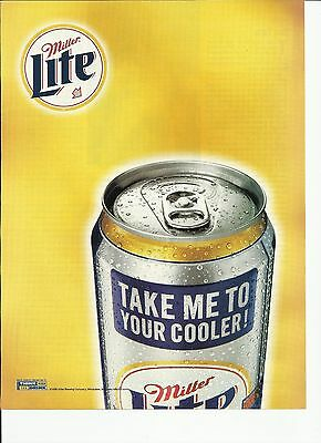 1998 Miller Lite beer Can- Take Me To Your Cooler- print magazine ad.