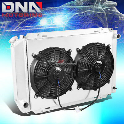For 79-93 Ford Mustang Fox 3-Row/tri Core Cooling Aluminum Radiator+Fan Shroud