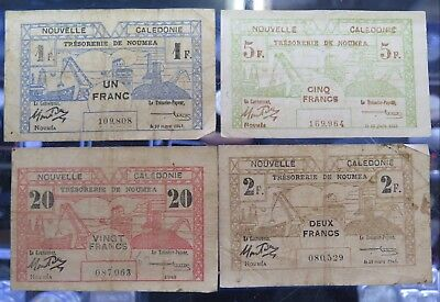 New Caledonia 1943  Old Banknotes .Good Buying ..Check this out / 4