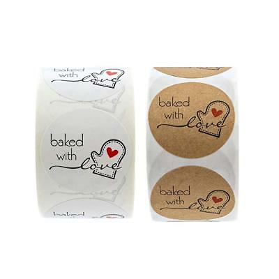 Baked with love Stickers Hand made with Love Handmade Scrapbook Wedding Stickers
